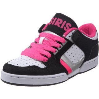 Osiris Womens NYC 83 Low Skate Shoe,Black/Pink/Silver,10 M US Shoes