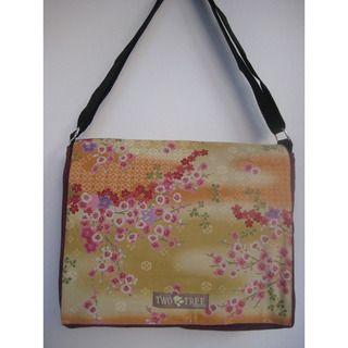 Two Trees Designs Cherry Blossoms Medium Messenger Bag