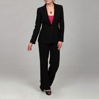 Tahari Womens Black Belted Pant Suit