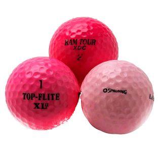 Pink Mixed Model Golf Balls (Pack of 36) (Refurbished)