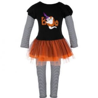 Bonnie Jean Girls 2T 6X Black/Orange Boo Halloween Tutu