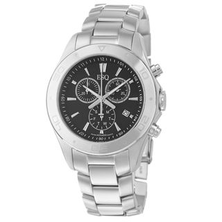 ESQ by Movado Mens Aston Stainless Steel Chronograph Quartz Watch