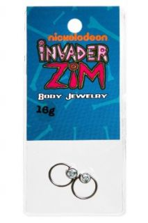 Invader Zim Gir 16G Captive Hoops 2 Pack Clothing