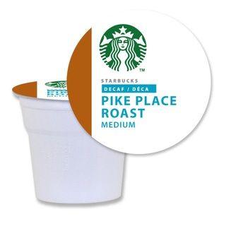 Starbucks Decaf Pike Place Roast Coffee K Cups for Keurig Brewers (96
