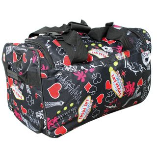 Rockland Deluxe 22 inch Black Las Vegas Carry On Rolling Duffle Bag