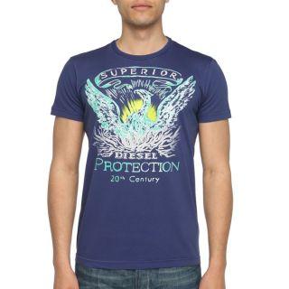 DIESEL T Shirt Joli Homme Marine   Achat / Vente T SHIRT DIESEL T