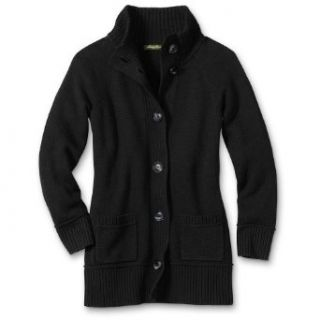 Eddie Bauer Cloud Long Cardigan, Black M Tall Clothing