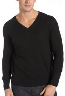 Red Moon Mens 100% Merino Wool Long Sleeve V Neck