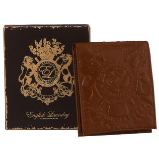 English Laundry Mens Cognac Bi fold Wallet