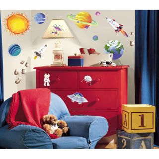 Space Peel and stick Vinyl Wall Decals (Set of 35)