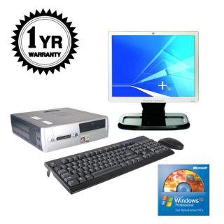 HP DX5150 2.0Ghz 512MB 80GB XP Desktop/ Monitor (Refurbished