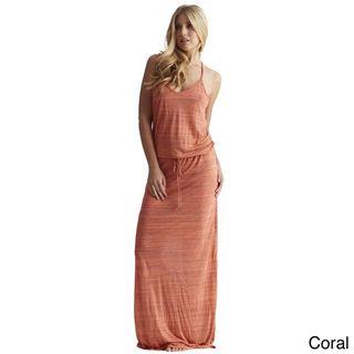 Elan Womens Razor Back Drawstring Maxi Dress