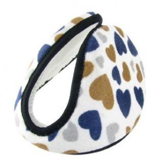 Allegra K Fleece Earmuffs Cover Winter Warmer Blue Brown