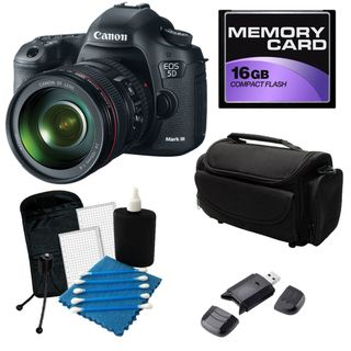 Canon EOS 5D Mark III Digital SLR Camera with 24 105 IS Lens Bundle