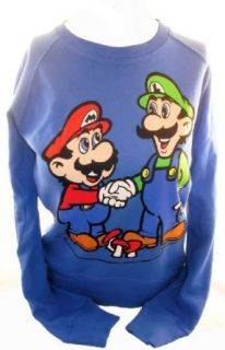Super Mario Bros Ladies Pullover Sweatshirt   Mario and