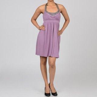 Decode 1.8 Contemporary Womens Mauve Day Dress