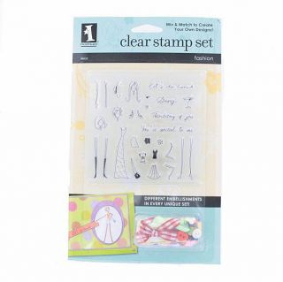 Fashion Embellishments Clear Stamp Set Today $8.39