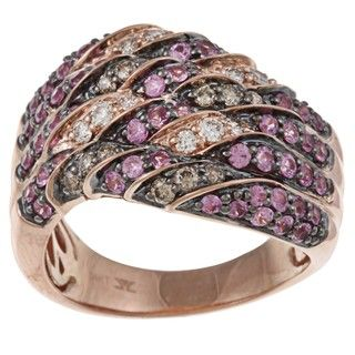 Encore by Le Vian 14K Rose Gold Pink Sapphire and Diamond Ring