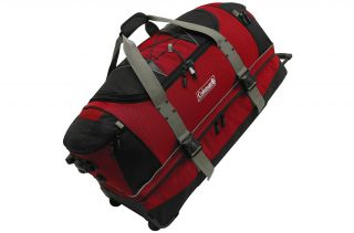 Coleman Excursion Red 36 inch Wheeled Duffel Bag