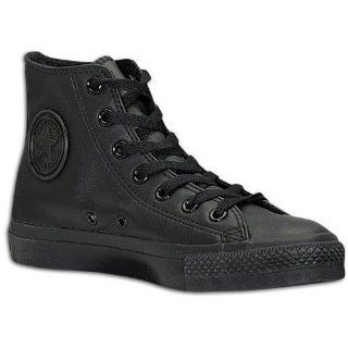 Chuck Taylor All Star Shoes (1T405) Leather Hi Black Monochrome Shoes