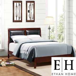 ETHAN HOME Swinford Vinyl Queen Bed