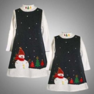Size 2T BNJ 4415X 2 Piece NAVY BLUE EMBROIDERED Holiday