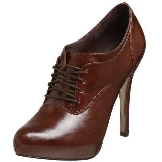Steve Madden Womens Vulture Oxford Pump,Brown Leather,5.5 M US Shoes