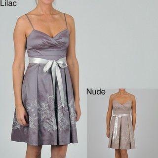 Oleg Cassini Womens Embroidered/ Sequined Dress