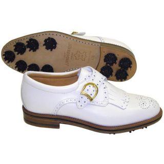 Aerogreen Ladies White Classic Buckle Golf Shoes