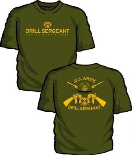 US Army Drill Sergeant T Shirt, XXL, Olive Green Clothing