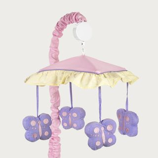 Sweet JoJo Designs Pink and Purple Butterfly Crib Mobile