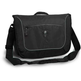 World Windgate Black Messenger Bag