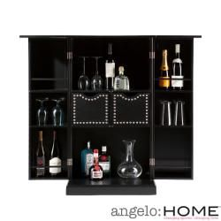angeloHome Beekman Black Fold Away Bar