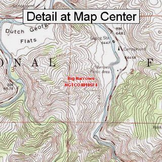 USGS Topographic Quadrangle Map   Big Narrows, Colorado