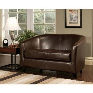 Abbyson Living Montecito Bicast Leather Loveseat