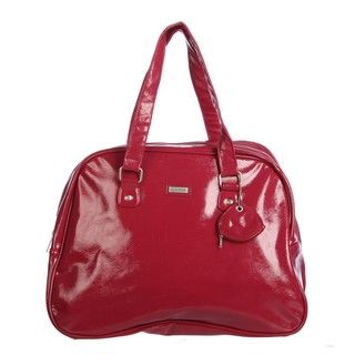 Ellen Tracy Red Metallic Carry On Tote