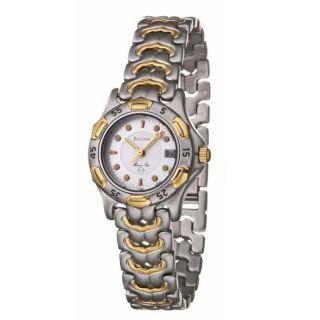 Bulova Womens Marine Star Two tone Stainless Steel Watch