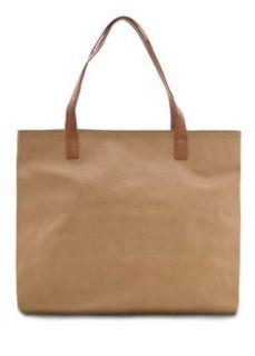 Mango Womens Leather Effect Shopper Bag   Top7 C, Beige