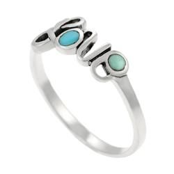 Tressa Sterling Silver Turquoise Love Ring