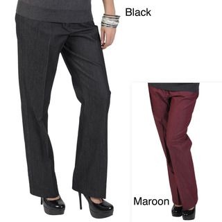 Larry Levine Womens Tailored Stretch Pants