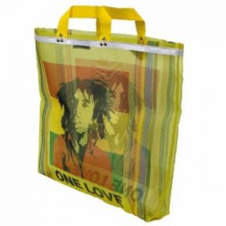 Bob Marley   One Love Stripe Beach Tote Bag Clothing
