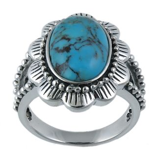 Southwest Moon Sterling Silver Turquoise Flower Ring Today $52.99 4.0
