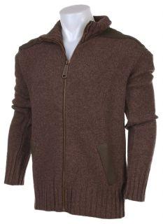 Mens Brown Cardigan Sweater 44