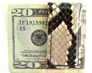 Magnetic Money Clip Genuine Python Snake Skin Clothing