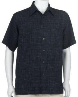 Ron Chereskin Mens Short Sleeve Woven Linen Rayon Shirt