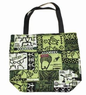 The Green Tapa Hawaii Print Big Shipping Bag Clothing