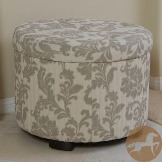 Christopher Knight Home Amigo Beige Floral Shoe Storage Ottoman