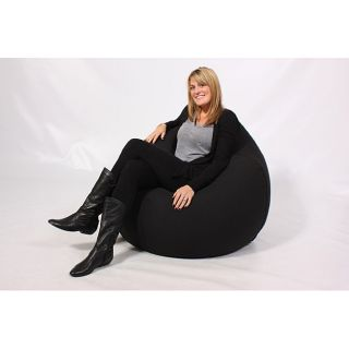 Mia Jumbo Bean Bag Lounge Chair Black