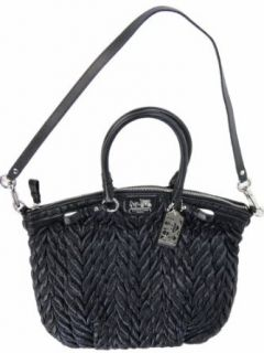 Coach Madison Nylon Chevron Lindsey Handbag 18634 Black