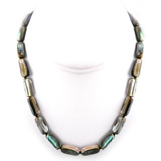 Abalone Shell Long Bead Necklace